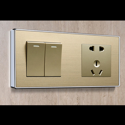 RB151精钢压铸面框连体开关床头柜铝合金+哑光金