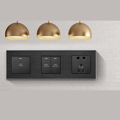 RB186铝合金拉丝面板床头柜黑色