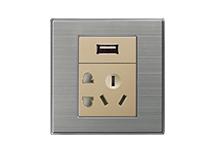 点开关  USB带五孔插座500uA、1000uA  D-031