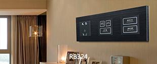 RB324弱电轻触连体开关黑色铝材拉丝