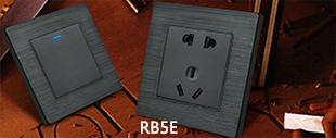 RB5E黑铝拉丝+LED点开关