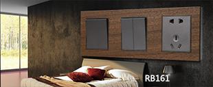 RB161原木面板连体开关床头柜