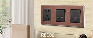 RB180铝合金拉丝面板床头柜玫瑰金