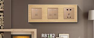 RB182铝合金拉丝面板床头柜香槟金
