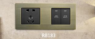 RB183铝合金拉丝面板床头柜青古铜