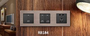RB184铝合金拉丝面板床头柜烟灰色