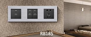 RB185铝合金拉丝面板床头柜银色