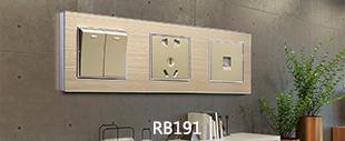 RB191镀铬边+铝合金拉丝连体开关床头柜