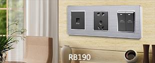 RB190镀铬边+不锈钢面连体开关床头柜