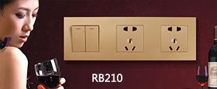 RB210哑光金连体开关床头柜