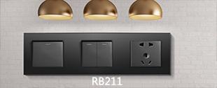 RB211黑色连体开关床头柜
