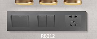 RB212灰色连体开关床头柜