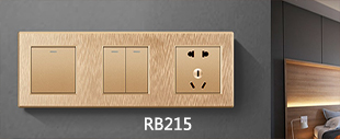 RB215金色拉丝连体开关床头柜