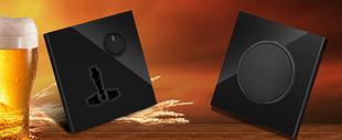 RB204A亮晶晶LED点开关(黑色亚克力面板)系列