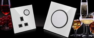 RB204B亮晶晶LED点开关(白色亚克力面板)系列