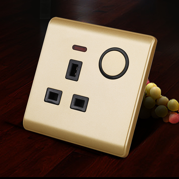 RB205A亮晶晶LED点开关(土豪金面板)