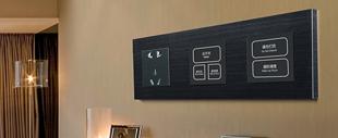 RB324弱电轻触连体开关床头柜(黑色铝材拉丝)